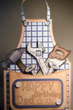 Free Standing Tool Apron, Multi-occasion Greeting Card for that Special Guy