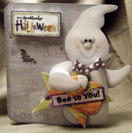 3D BOO TO YOU Halloween Card - ITEM # HAL001