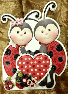 Love Bugs Shaped Valentine's Day Card