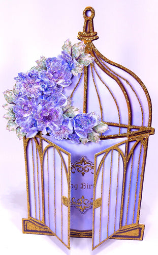 Open Faced, Free Standing, 3D Birdcage- Multi-Occasion
