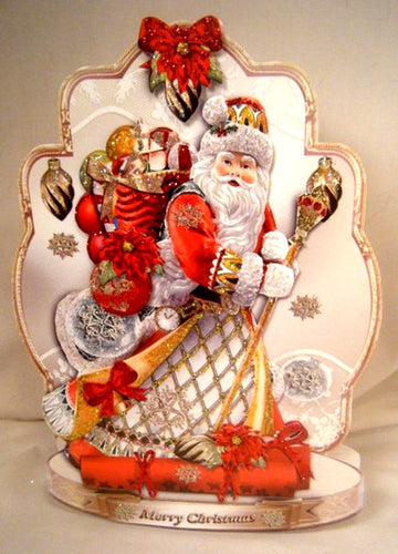Father Christmas Free Standing Holiday Card