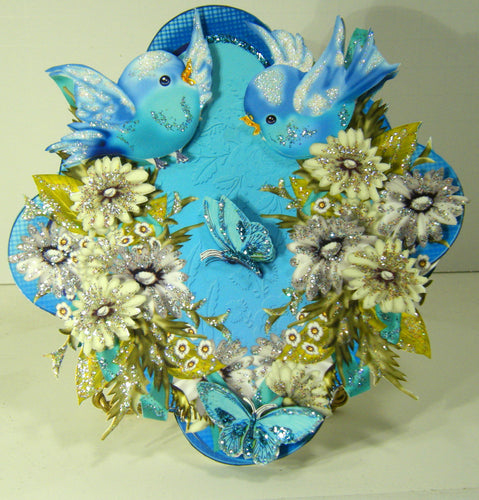3D Blue Birds & Butterflies Multi-Occasion Easel Card - ITEM # MLT126