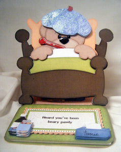 Feeling Beary Pawly Get Well Card