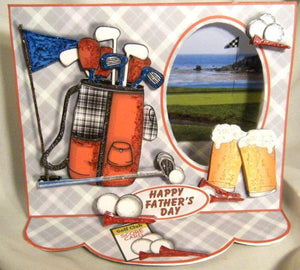 On the Golf Links 3D Window Easel Multi-Occasion Card