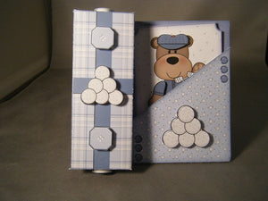 Golfin Bear Gift Box Card