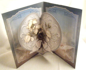 Doves and White Roses Sympathy Card