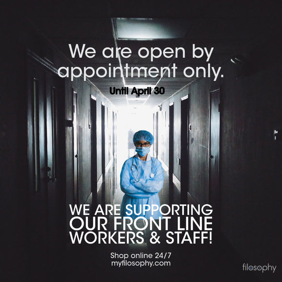 We are Temporarily Closing our Doors to support Front Line Health Care Workers