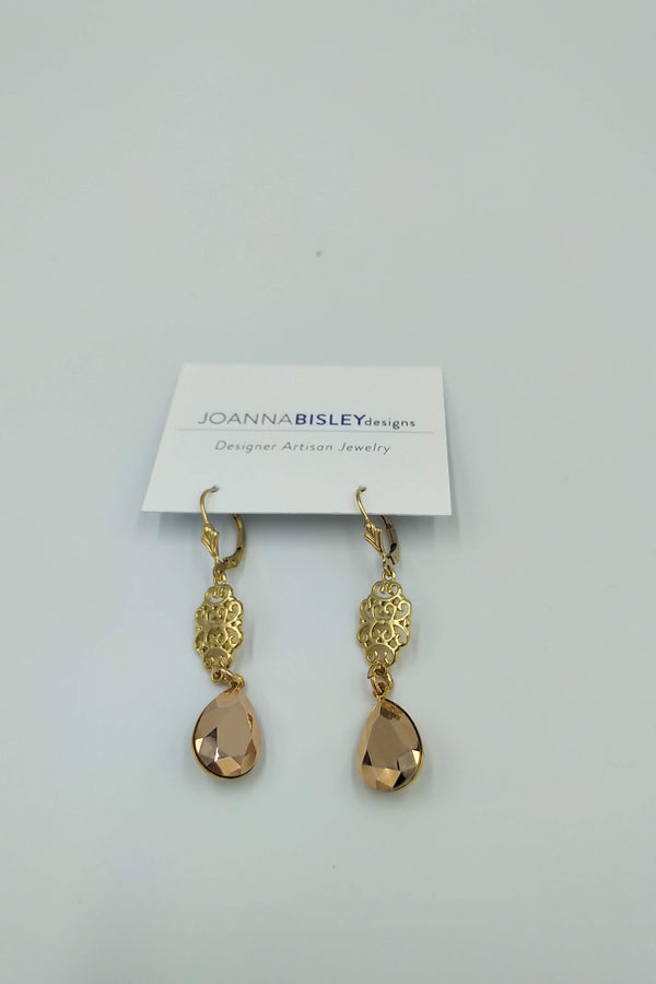 Joanna Bisley Rose Gold Scroll Earring