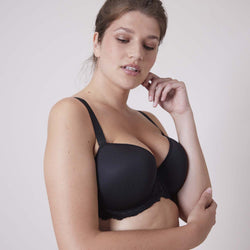 Simone Perele Caresse Moulded Padded Black Bra -12A343