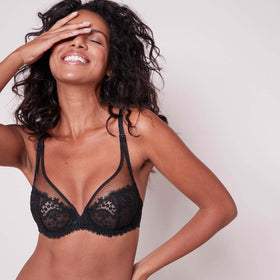Simone Perele Black Wish Full Cup Plunge 12B319 015