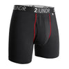 2Undr Swing Shift Boxer Brief Solid - Black/Red
