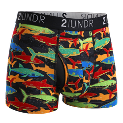 2Undr Swing Shift Trunk Print - Shark Fest