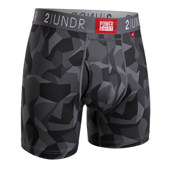 2Undr Power Shift Boxer Brief Print - Black Camo