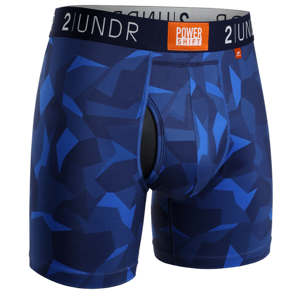 2Undr Power Shift Boxer Brief Print - Blue Camo