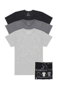 Men's Kuwalla Tee Crew Neck 3 pack Pepper