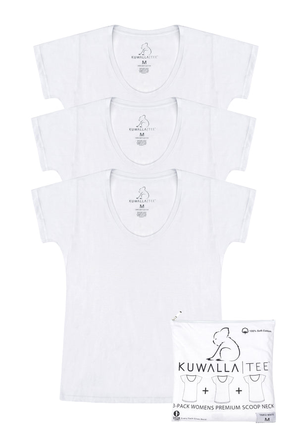 KuwallaTee  Women's Triple White Scoop