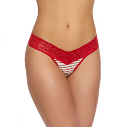 Hanky Panky Striped Jersey Thong