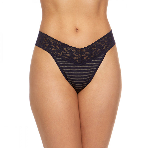 Hanky Panky Gold Metallic Stripe Thong