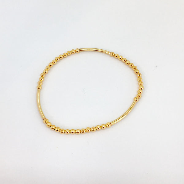 Joanna Bisley 14kt Goldfill Bar and Ball Bracelet B3632
