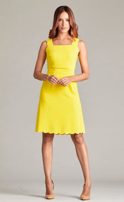 Nora Gardner Melly Scalloped Sleeveless Dress