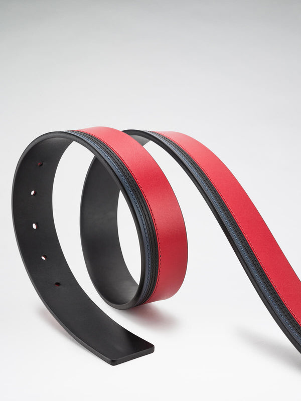 Bugatchi Men's Reversible Belt - Rosso