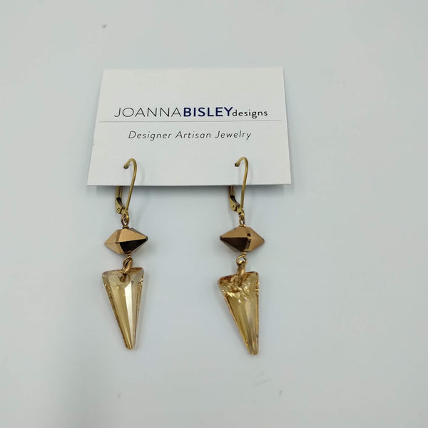 Joanna Bisley Golden Shadow Gold Filled Rose Gold Spike Earrings