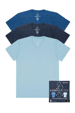 Kuwalla Tee Men Indigo V-Neck 3 pack