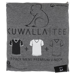 KuwallaTee Mix Color Vneck Mens - 3 pack - KUL-VM1205