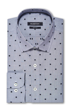 Bugatchi Mens Long Sleeve Woven Pointed Collar Cotton Button up