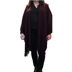 Raffi Blanket Poncho with Fringe