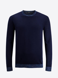 Bugatchi Long Sleeve Crew Neck Merino Wool Sweater