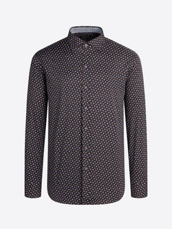 Bugatchi Long Sleeve Performance Shaped Shirt
