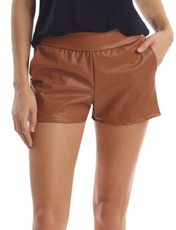 Commando Faux Leather Relaxed Short