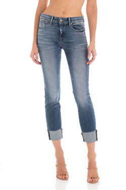 Fidelity Stevie Crop Mid Rise Slim Straight