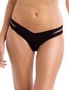 Commando Striped Thong CT17 Black
