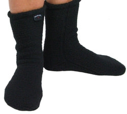 Polar Feet Adult Fleece Socks - Supersoft Black