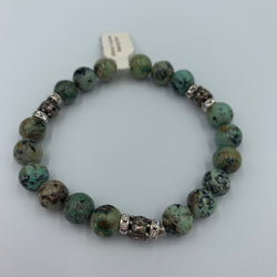 Joanna Bisley African Turquoise and Sterling Silver Bracelet