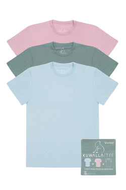 Kuwallatee Mens Crew Neck 3 pack Spring