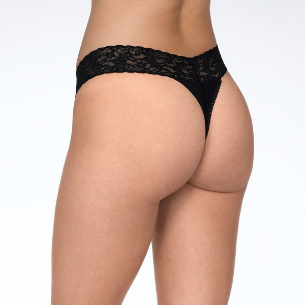Hanky Panky Cotton with a Conscience Thong  Black Back