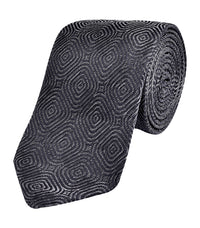 Bugatchi CT2206 Pattern Silk Tie Graphite
