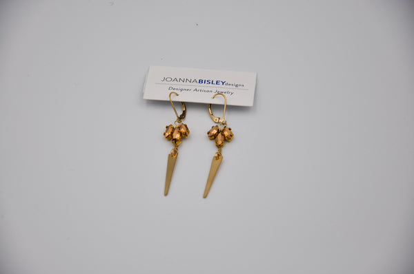 Joanna Bisley Rose Gold with Rose Gold Spike Earring
