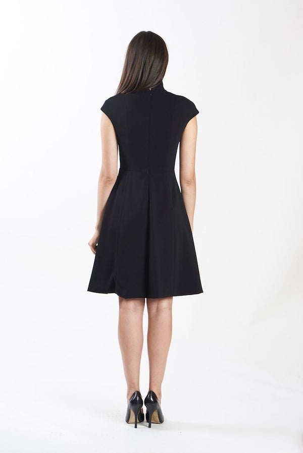 Nora Gardner Evelyn Fit & Flare Dress Black
