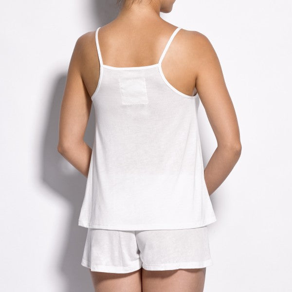 Modal Sleepwear Set Light Ivory back