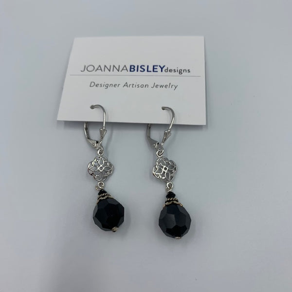 Joanna Bisley Swarovski Crystal Rhodium and Sterling Silver Earring