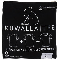 Men's Kuwalla Tee Crew Neck 3 pack T-Shirts Black