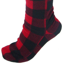 Polar Feet Over the Knee Fleece Socks - Lumberjack