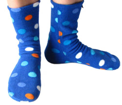 Polar Feet Adult Fleece Socks - Big City Blues
