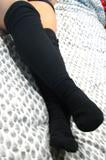 Polar Feet Over the Knee Fleece Socks - Black