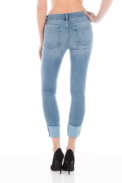 Fidelity Denim Stevie Crop Mid Rise Slim Straight
