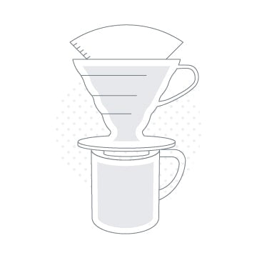 Hario v60 dripper and filter paper